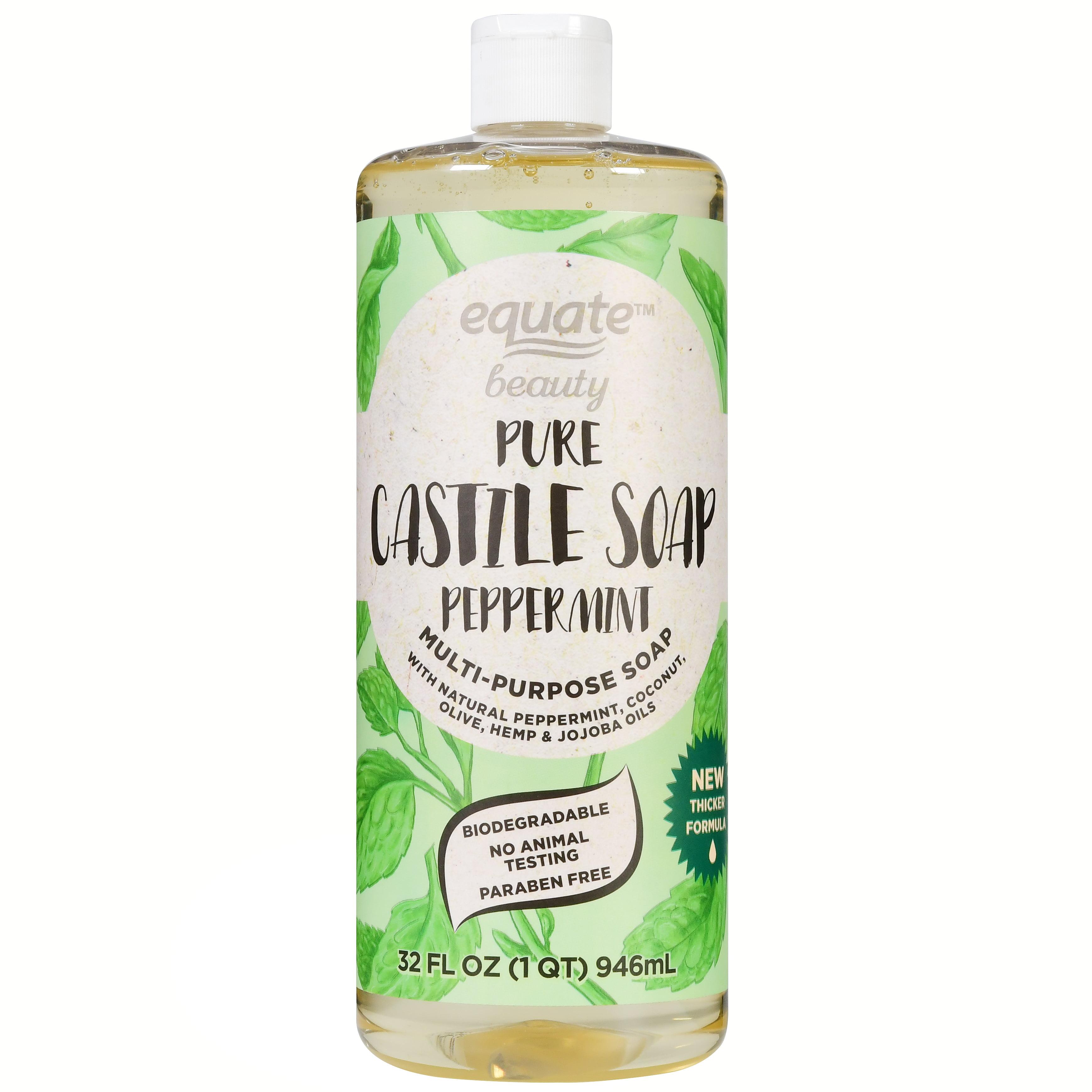 Equate Beauty Pure Castile Soap, Peppermint, 32 fl oz