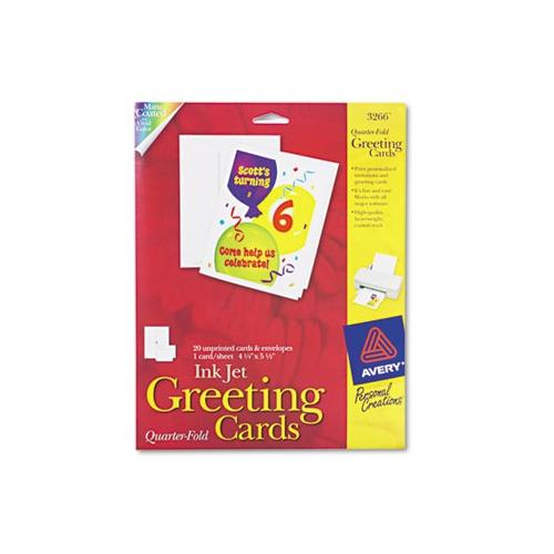 Avery 1/4-Fold Greeting Cards AVE3266