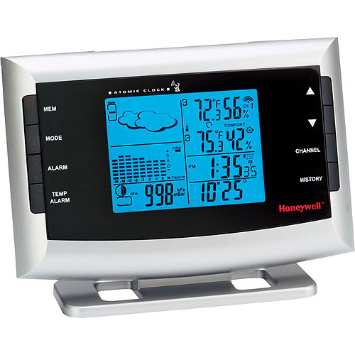 Honeywell Weather Forecaster With Indoor/Outdoor Temperature And Humidity