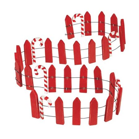 Candy Cane Fence (Christmas Miniature Candy Cane Fence / Decoration)