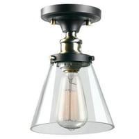 Jackson LED 1-Light Dark Bronze Flush Mount Ceiling Light Fixture
