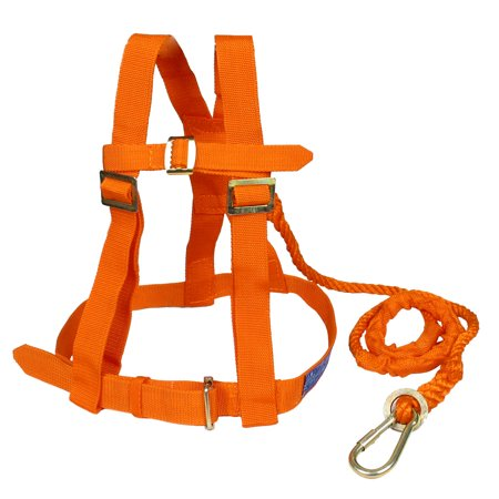 1.53M Orange Nylon Cord Full Body Protection Safety Harness w Metal Hook