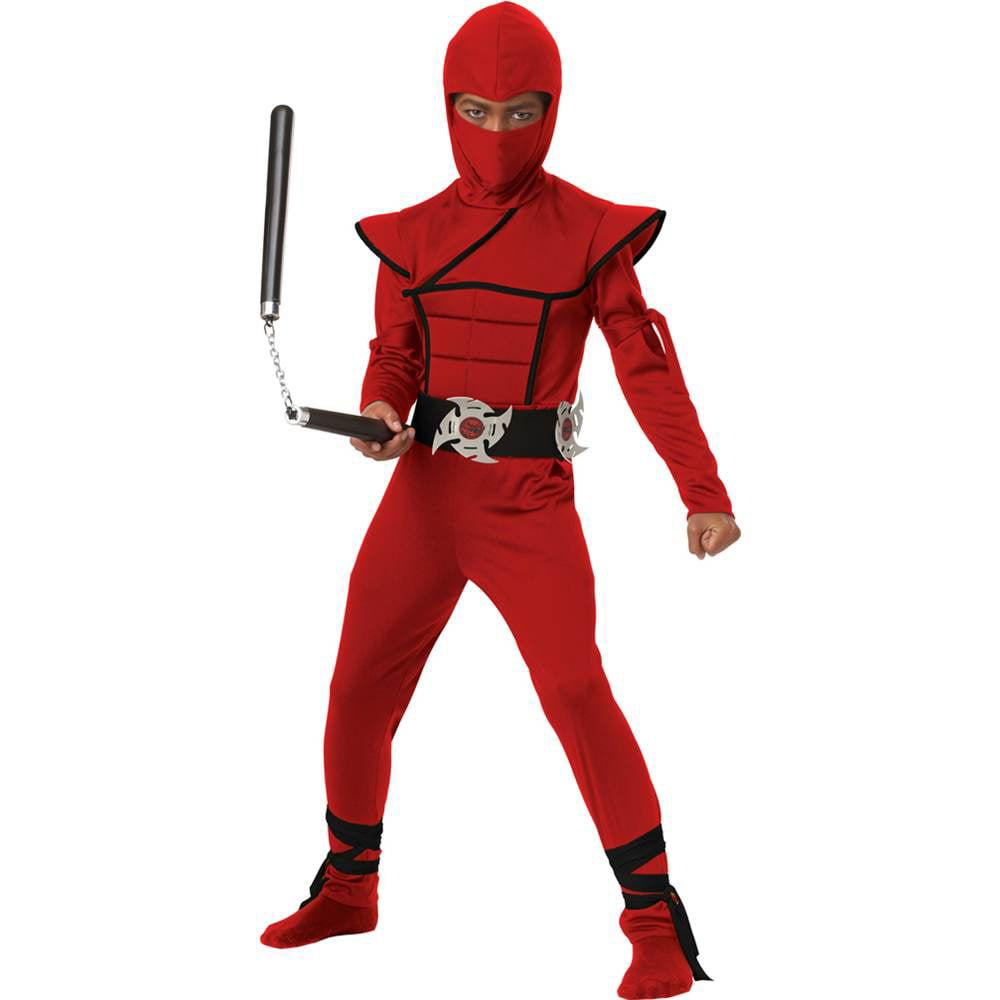 Stealth Ninja Costume Child: Red Large