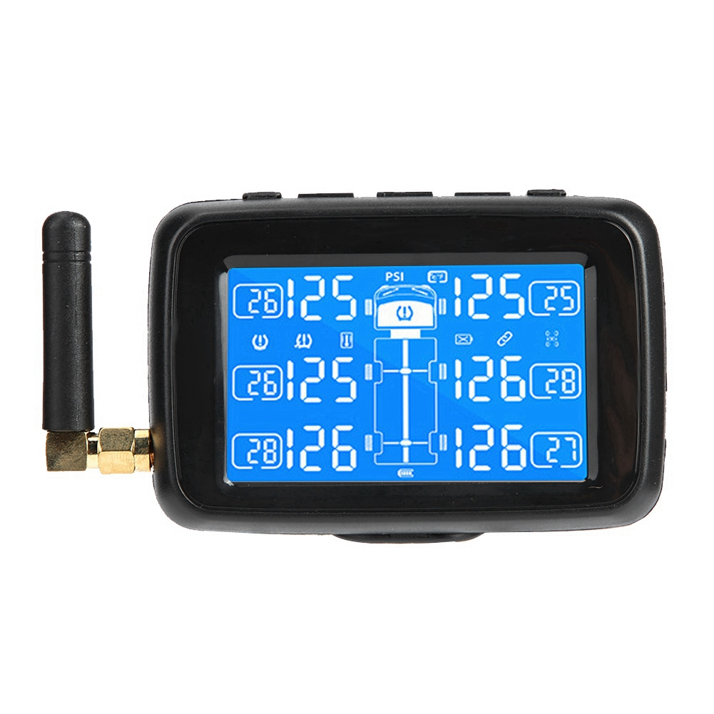 Car TPMS Tire Pressure Monitoring with 6 External Sensor and Antenna Tyre Pressure Monitor
