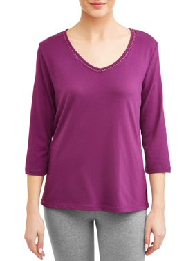 03f92f4a267 Product Image Karen Neuburger 3 4 Sleeve Pullover Top Pajama Pj with Night  Sweat Moisture Wicking Technology