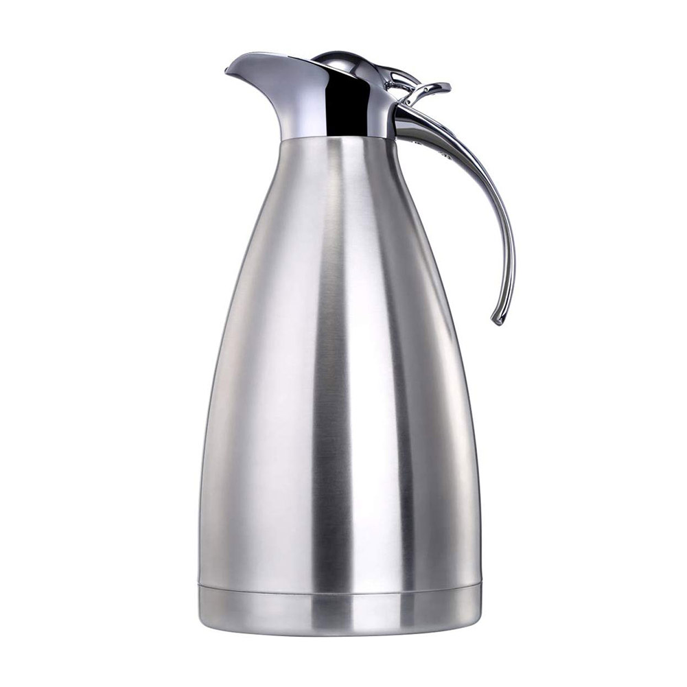 Normal 2L Coffee Carafe Bottle Thermal Pot Jug Coffee Pot Household Silver