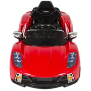 12v ride on car kids w mp3 electric battery power remote control rc red image