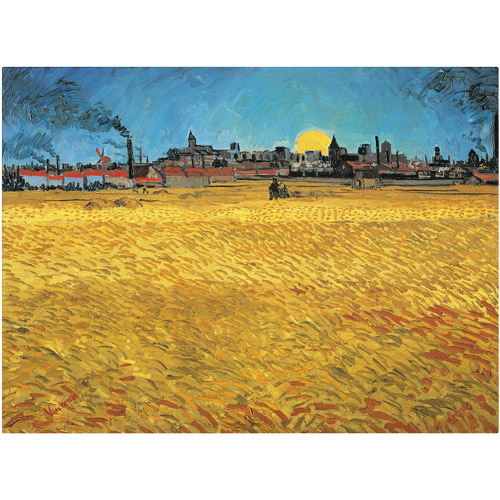 "Trademark Fine Art ""Summer Evening"" 1888 Canvas Art by Vincent van Gogh"