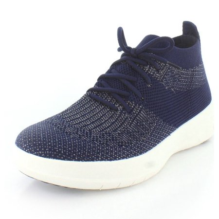 ef092bb329c53b FitFlop - fitflop j30-506   womens uberknit slip-on high top sneaker navy pewter  metallic (7 b(m) us) - Walmart.com
