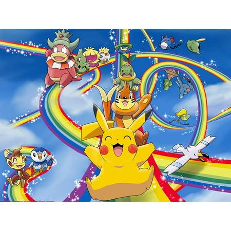 Pokemon Pikachu Edible Frosting Image Cake Topper Sheet Birthday - 1/4 - Birthday Pikachu