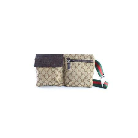 c327c50bcea9 Gucci - Sherry Monogram Web Fanny Pack Waist Pouch 15gr0626 Brown ...