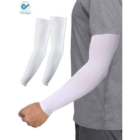 Deago UV Sun Protection Cooling Arm Sleeves Sunblock Cover For Men Women Cycling Runing Soccer Baseball Hiking
