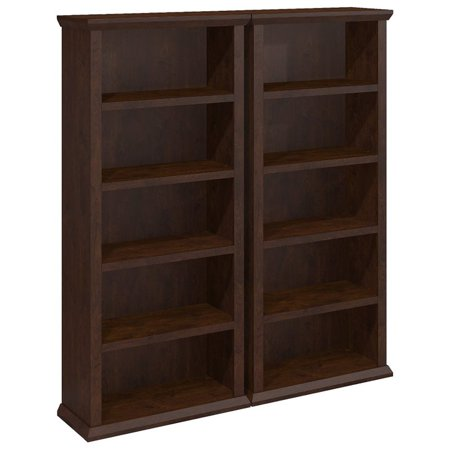 Bush Furniture Yorktown Bookcases in Antique Cherry - Set of Two - image 6 of 6