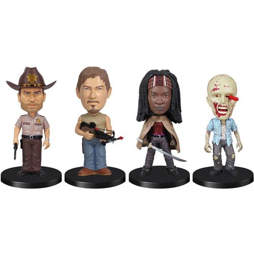 Funko Walking Dead TV Series 4-Pack Mini Bobble Head Pop! Vinyl Figures