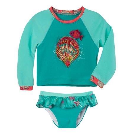 OFFCORSS Baby Girl Rashguard Shirt Long Sleeve SPF Set Trajes de Baño Niñas - Fotos De Trajes De Halloween
