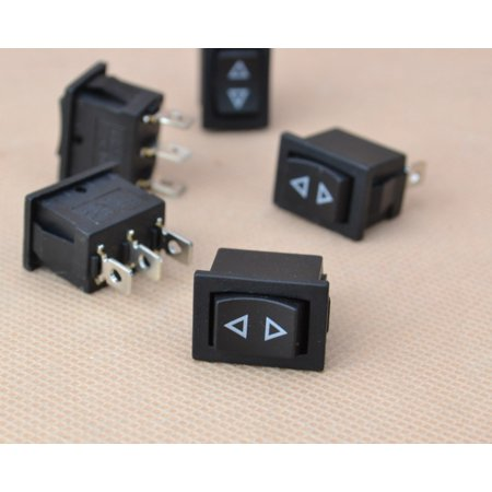 Replacement Mini Rocker Control Switch (5x Mini Momentary Rocker Switch 3-Pin Spring Hoist Window Temporary Up/Down)