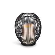 7-Inch Tall Battery-Operated LED Lantern with Timer Feature