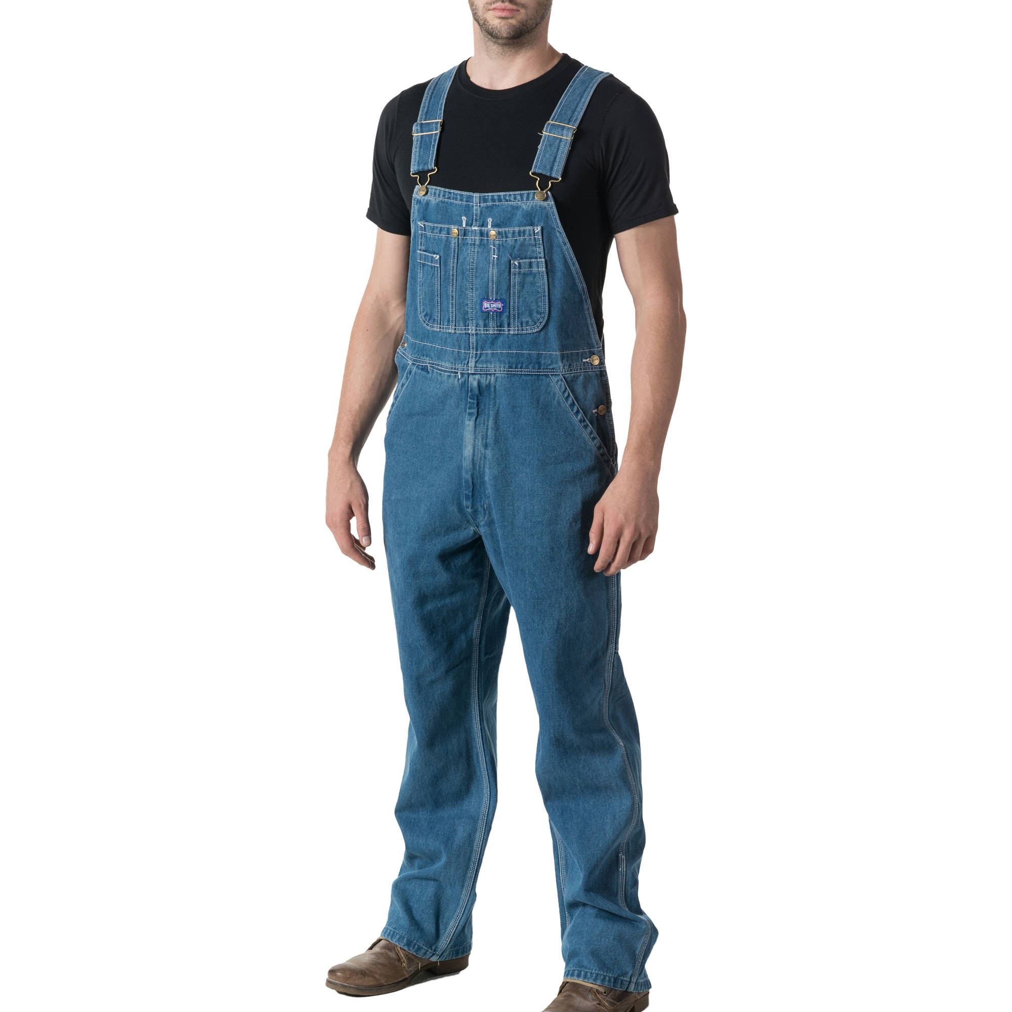 Big Men's 100% Cotton Stonewashed Denim Bib Overall