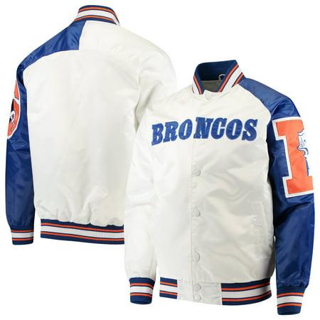 Denver Broncos Starter Start of Season Retro Satin Full-Button Varsity Jacket - White ()