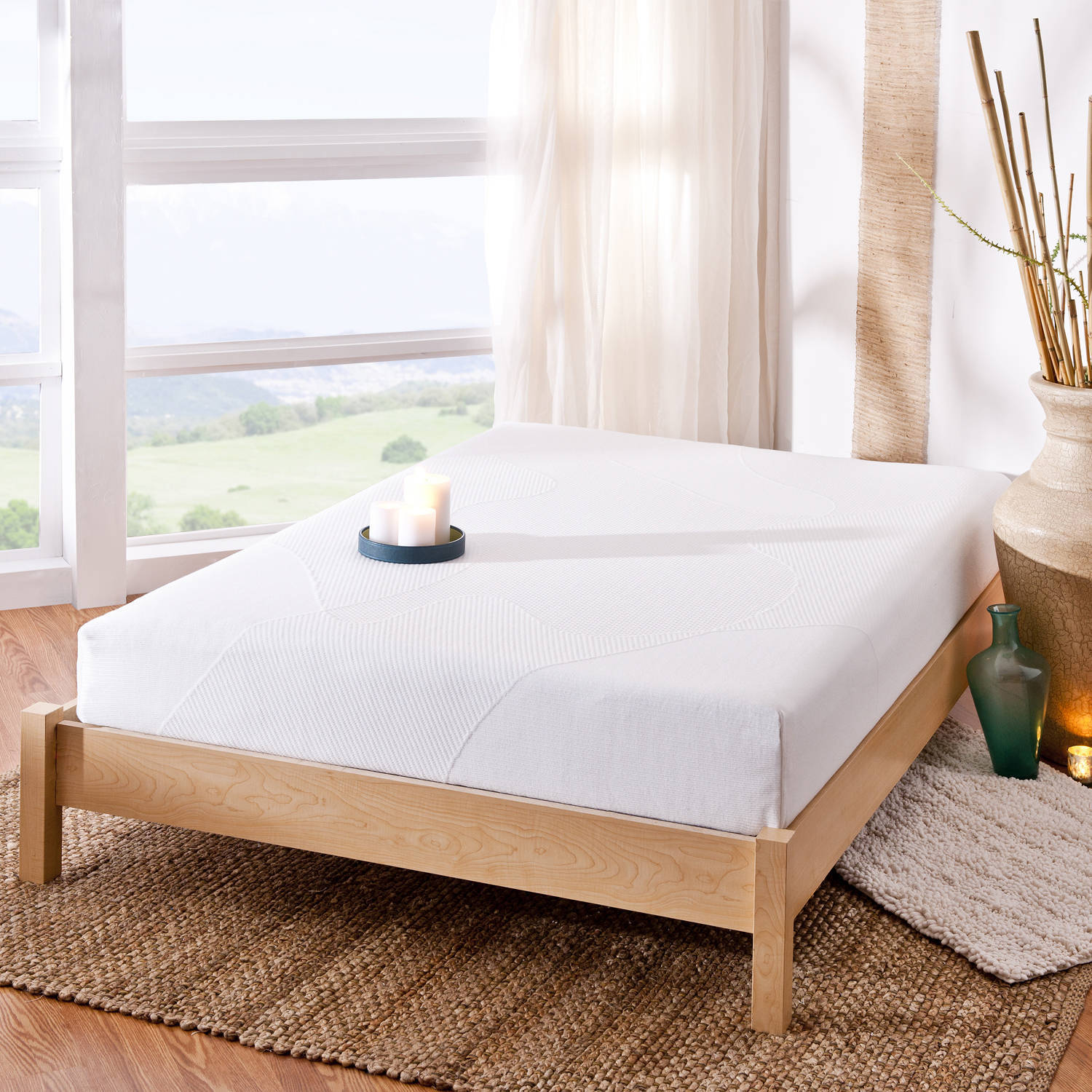 "Spa Sensations 8"" Memory Foam Mattress with Bed Frame Set"