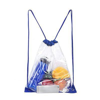 Clear Drawstring Bags (TURNTABLE LAB Clear Drawstring Bag Waterproof Stadium Drawstring)