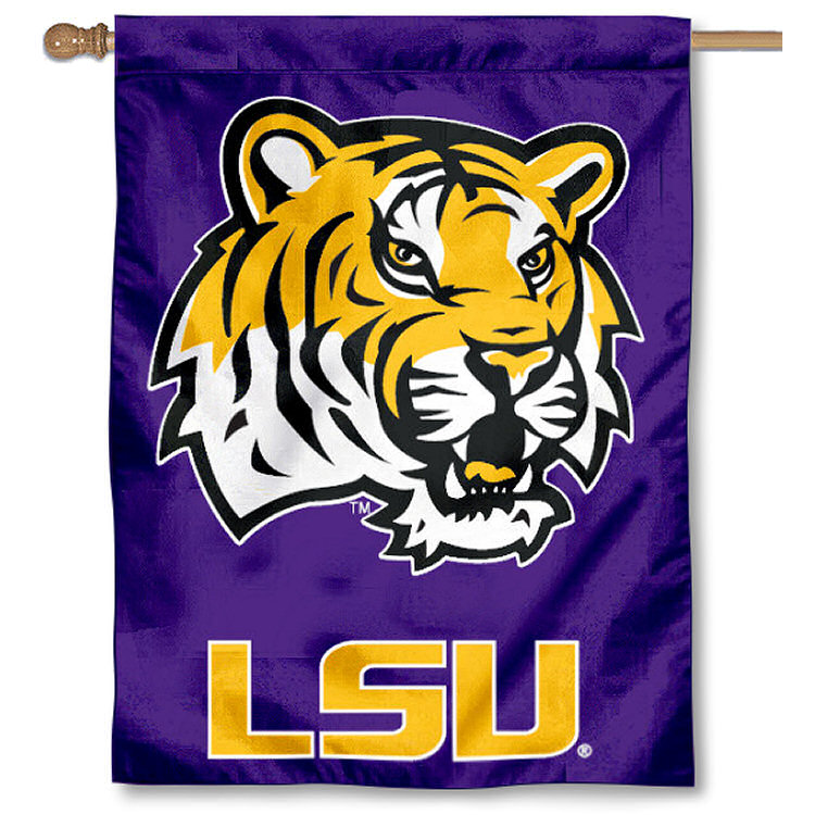 """LSU Tigers 30"""" x 40"""" House Flag and Banner"""
