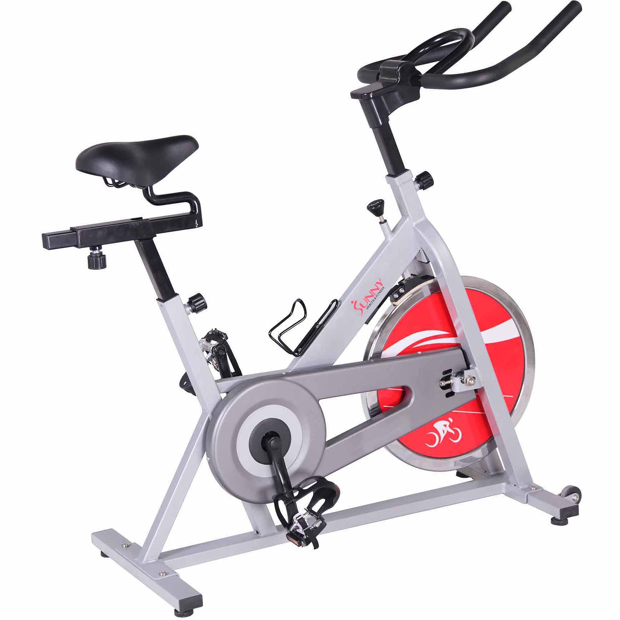 Chain Drive Indoor Cycling Trainer Exercise Bike (Silver) by Sunny Health & Fitness SF-B1001S by Sunny Health & Fitness