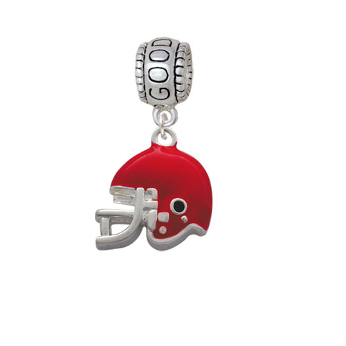 Small Red Football Helmet - Good Luck Charm Bead