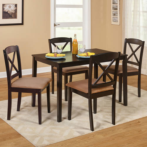 TMS Mason 5-Piece Cross Back <mark>Dining</mark> <mark>Set</mark>, Multiple Colors