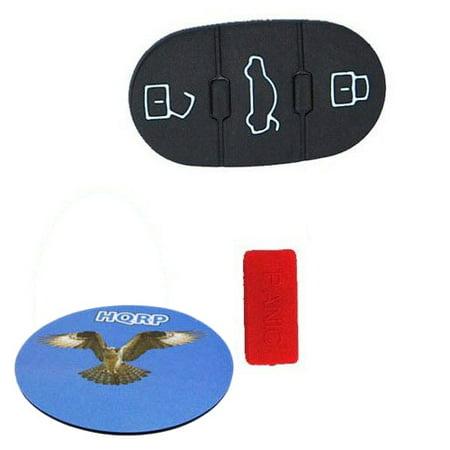 HQRP 3 Buttons + Panica Repair Key Fob for Volkswagen VW Beetle Golf Jetta Passat Key Button pad Folding Flip plus HQRP