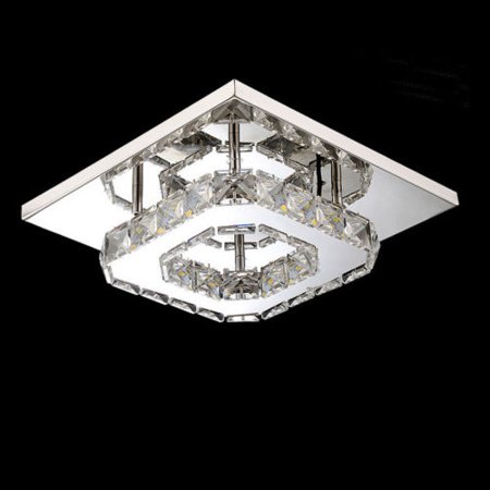 High Country Foyer Chandelier - Meigar LED Modern Art Deco Crystal Chandelier Lighting Pendant Flushmount Ceiling Light Fixtures Light Lamp for Living Dining Study Room Bedroom Foyer