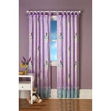 Disney Princess Drapes (1pc Disney Princess and the Frog Drapery Panel Purple Tiana Window)