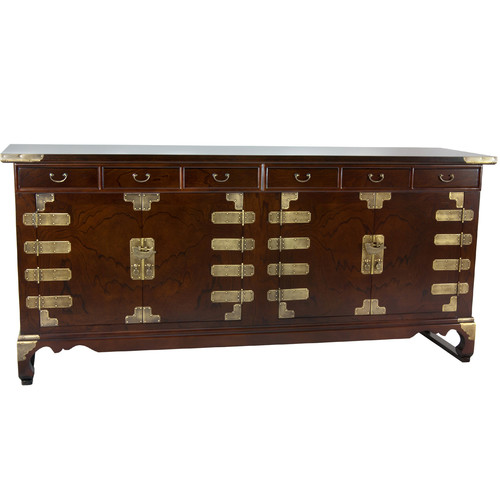 Oriental Furniture Korean Double Cabinet Sideboard