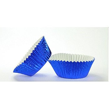 500pc Mini Size Blue Foil Baking Cup With Greasepoof