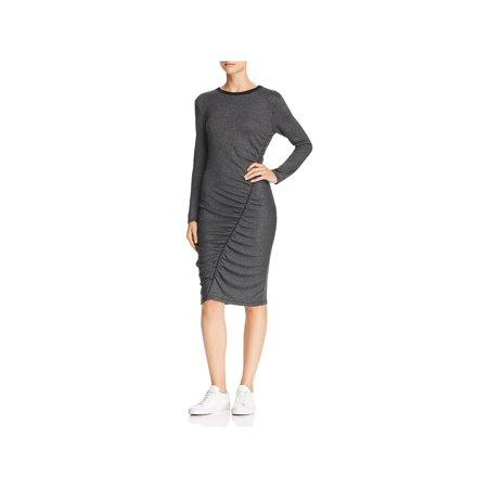 Splendid Womens Logan Knit Ruched Casual Dress Merino Knit Dress