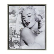 Amrita Singh Marilyn Monroe and The Big Apple Framed Graphic Art