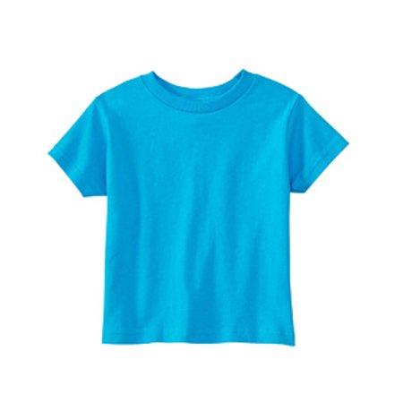 Rabbit Skins 3301J T-Shirt Juv-nile - Turquoise, Taille 7 - image 1 de 1
