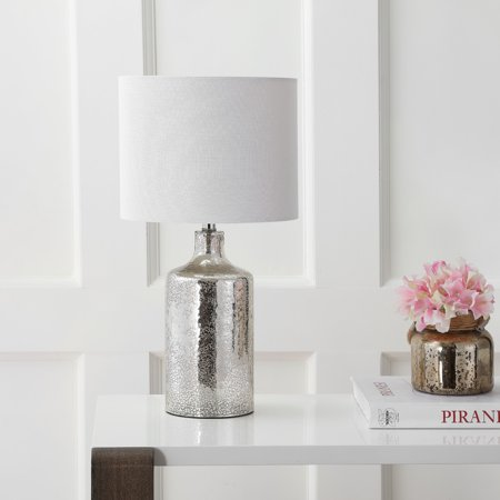 Safavieh Danaris Rustic 19 in. H Table Lamp, Silver/Ivory ()