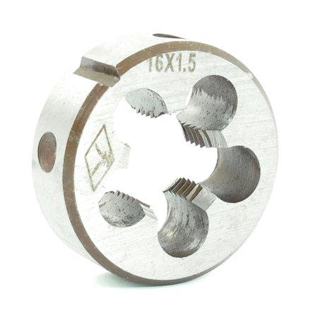 Metric Thread Dies (Steel 38mm Outside Diameter Metric M16 x 1.5mm Screw Thread Round Die Tool)