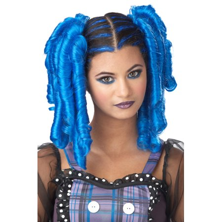 Anime Curls with Hairscara Costume Wig (Blue)](Wigs Anime)