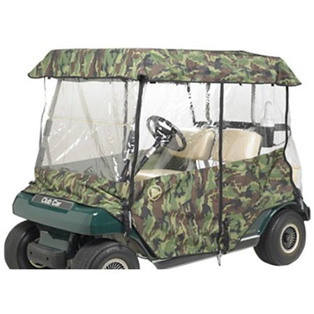 Greenline by Eevelle 2 Passenger Drivable Golf Cart Enclosure | Stone White - Golf Cart Halloween Parade