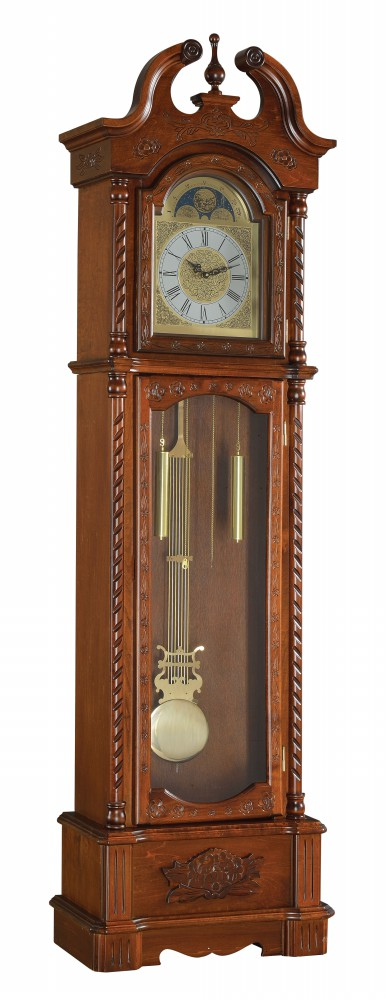 1PerfectChoice Quincey Grandfather Clock Westminister Chime Pendulum Glass Door Dark Oak Wood by 1PerfectChoice