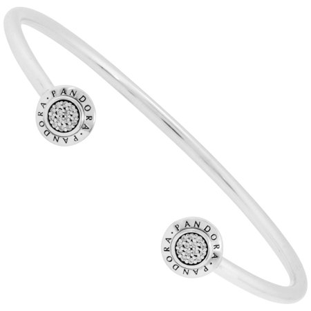 - Signature Open Silver Bangle - 590528CZ-2