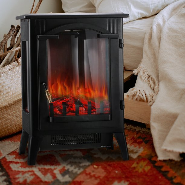 Ainfox 3d Electric Fireplace Stove, Electric Fireplace Space Heaters