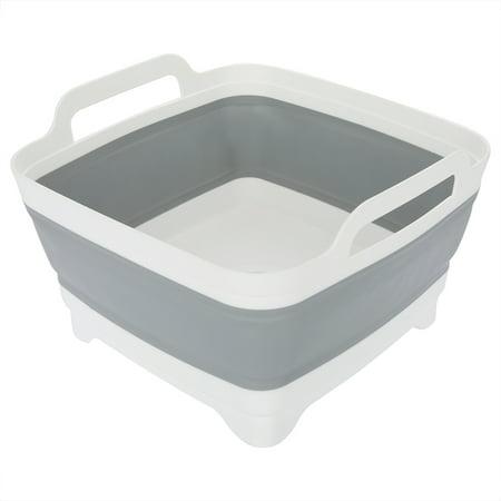 Folding Plastic Kitchen Washing Bowl Portable Vegetables Fruits Washing Basket with Handles, Folding Washing Bowl, Collapsible Washing Bowl - Fruit Bowl Basket