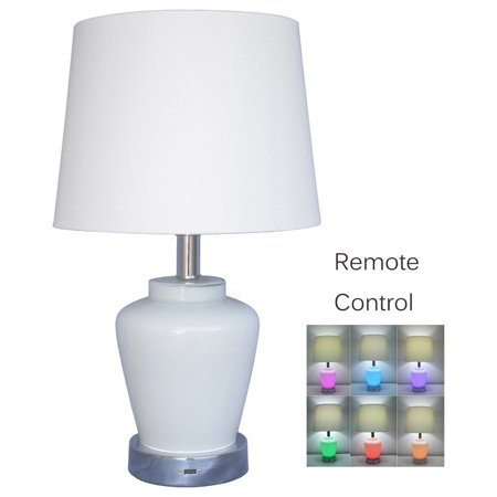 color changing bedroom lamps table lamps w remote usb port