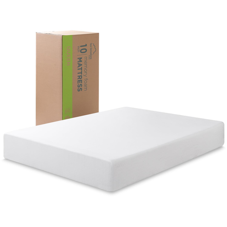 Spa Sensations By Zinus 10 Memory Foam Mattress Twin Walmart