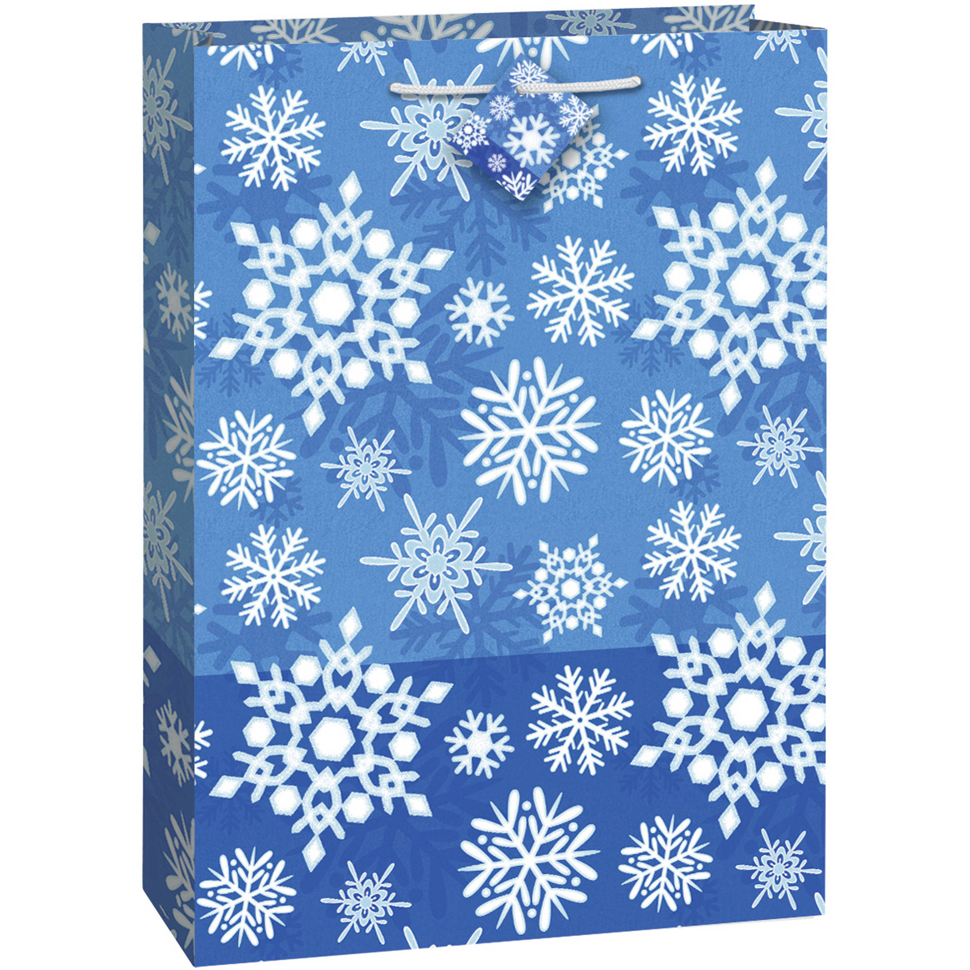 Jumbo Winter Snowflake Holiday Gift Bag