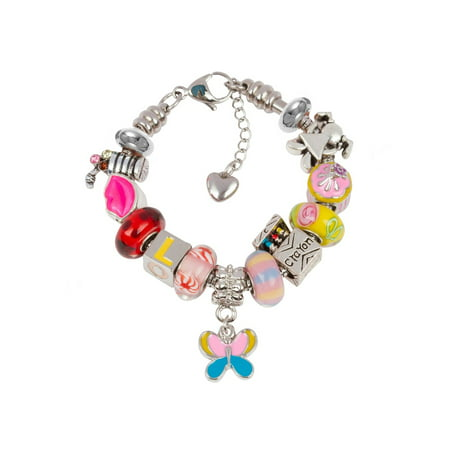 European Charm Bracelet With Charms For S Stainless Steel Snake Chain Back To School