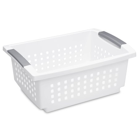 Sterilite, Medium Stacking Basket, White 400 Mm Basket